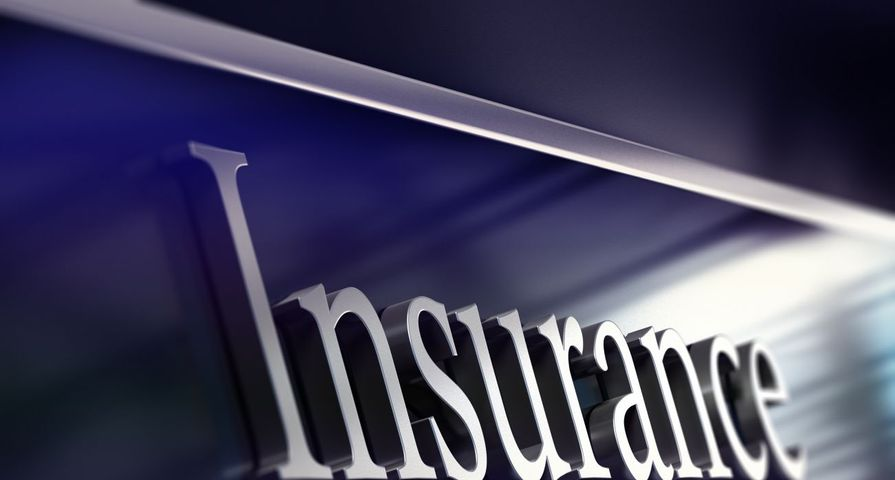 Insurance Text in Blue and Chrome