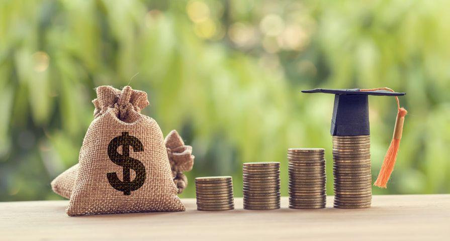 Money & Student Grad Cap