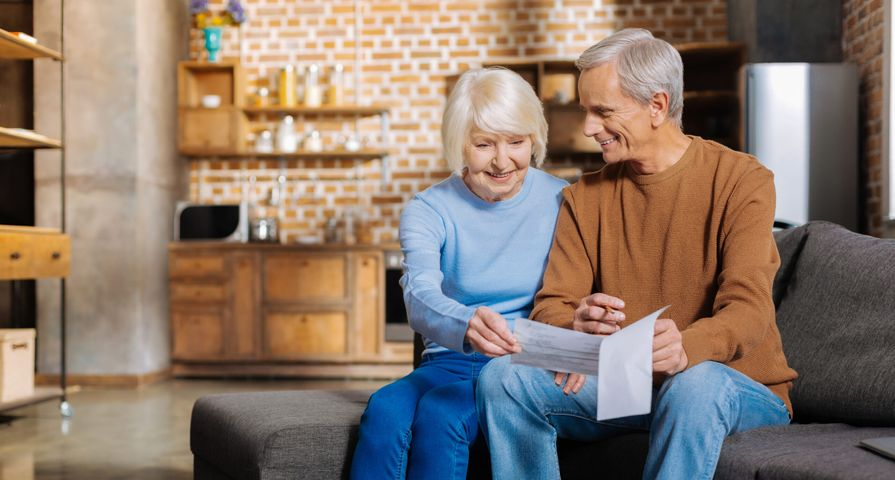 Retired Couple Looking at Financial Documents
